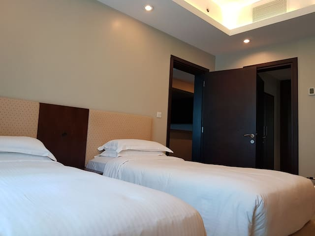 Comfortable 2 bedroom apt near city center & Decc
