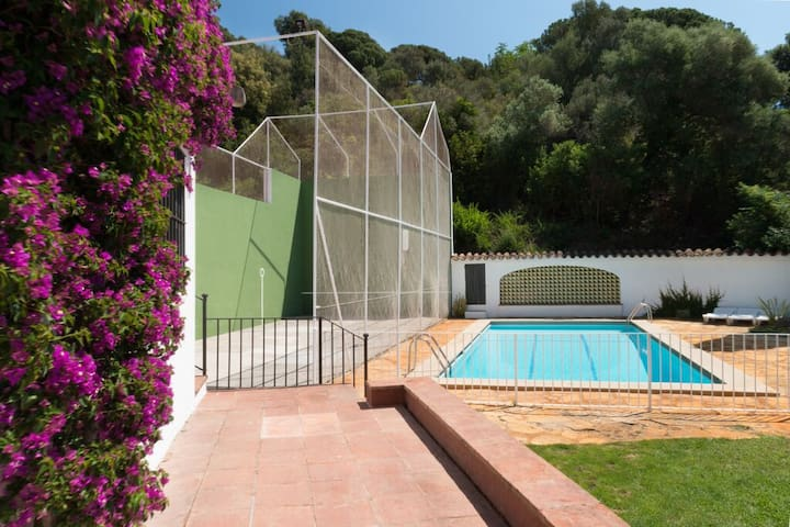 swimming pool and racquetball court