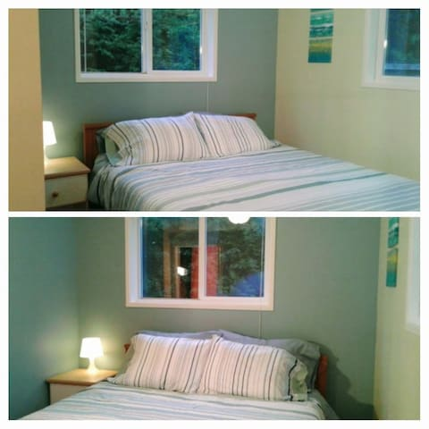 Downstairs queen bed