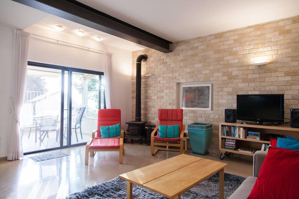 Loving Room, balcony, Fire Place