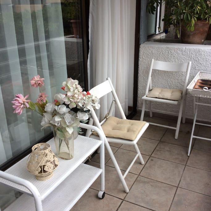 Agradable terraza