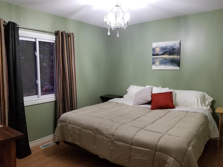 Quiet/spacious: King size or Two Adult twin beds