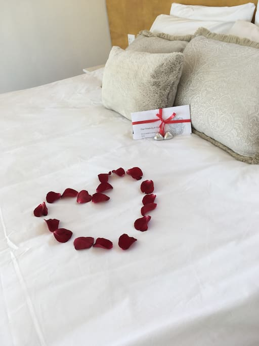 A welcome for our valentines guests