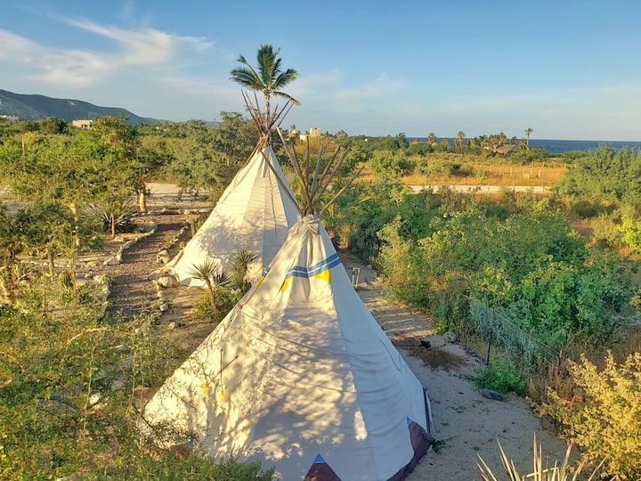 2 Person 2 Twin bed- Teepee, Tipi Los Barriles BCS