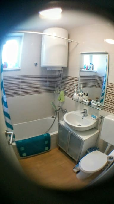 Small bathroom but new and always very clean
