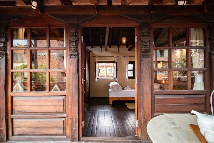Detailed carved wooden beams and windows will makes you feel that you are emerging and enjoying Newari architecture within doorsteps.