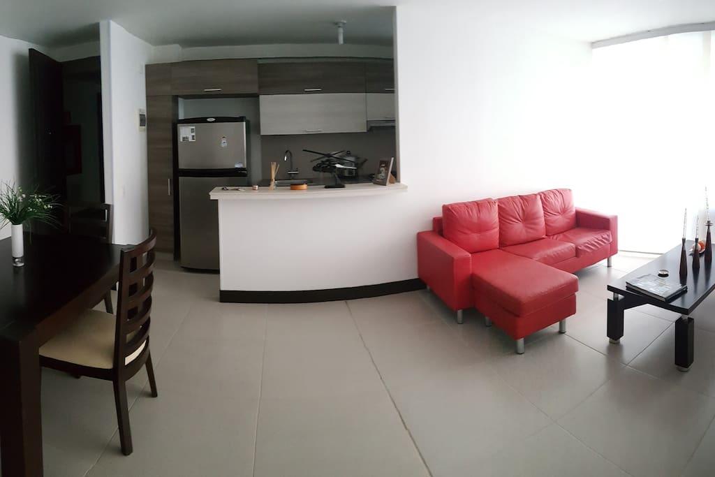 Sala comedor y Television
