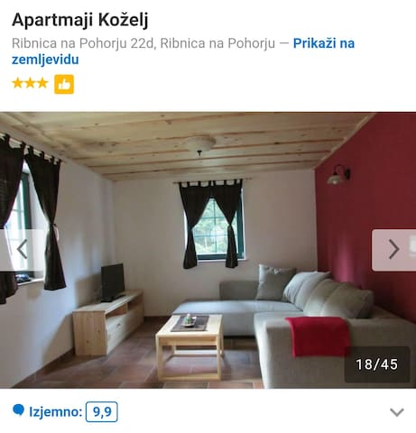 A beautiful well furnished Apt. next to ski slope