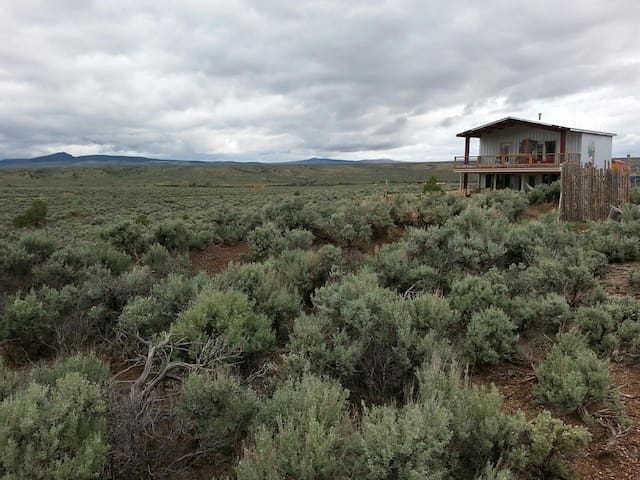 Panoramic View of the Rio Grande: Off-grid comfort