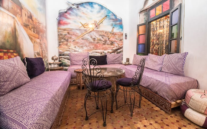 10 bed shared dorm in the Medina of Fes