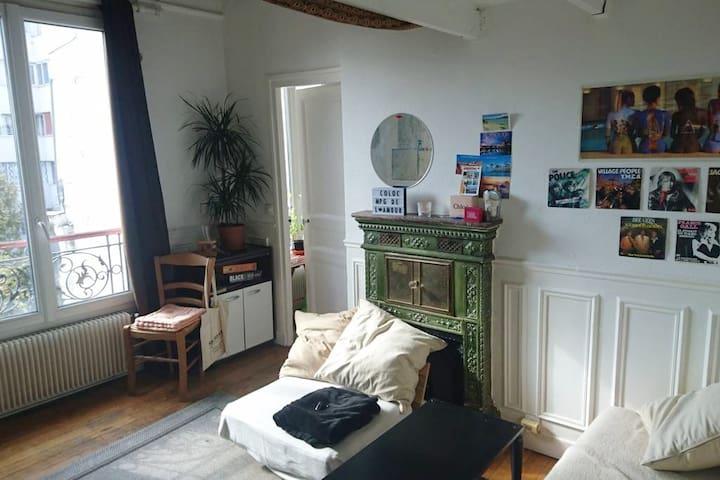 Chambre dans colocation, quartier Gambetta