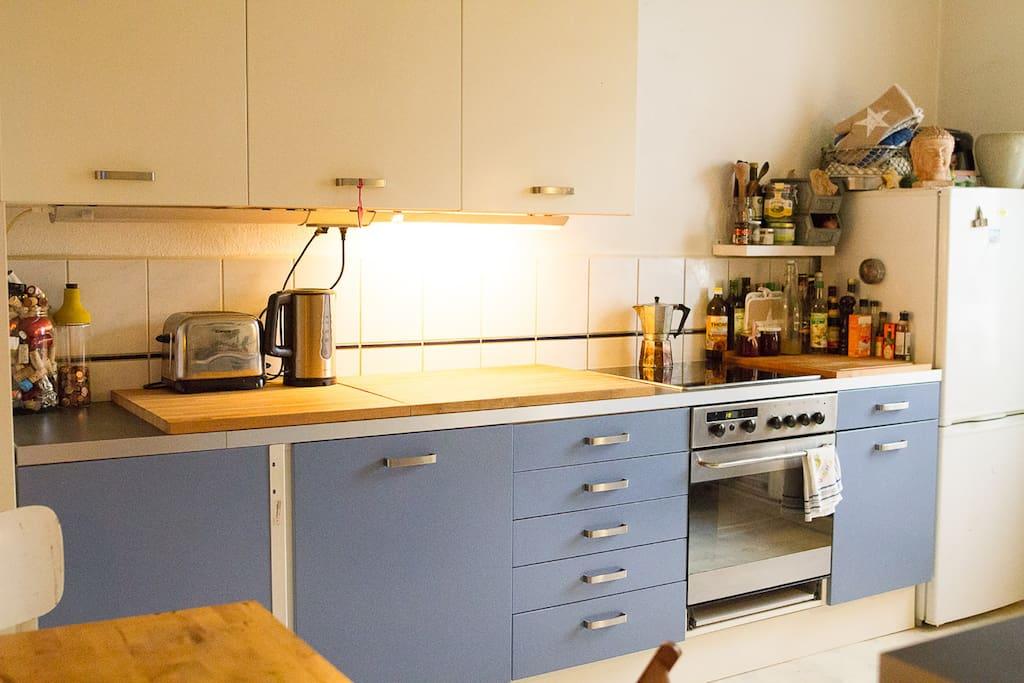 Küche mit Morgensonne