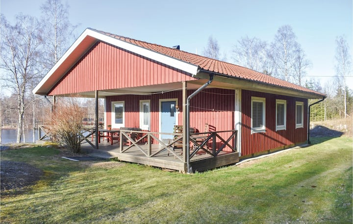 Awesome home in Holmsjö with Sauna and 3 Bedrooms