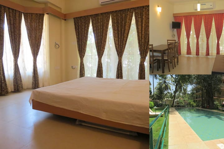 58) Large 1 Bed Apart Emerald Court, Nagoa Slp 3 - Saligao - Apartamento
