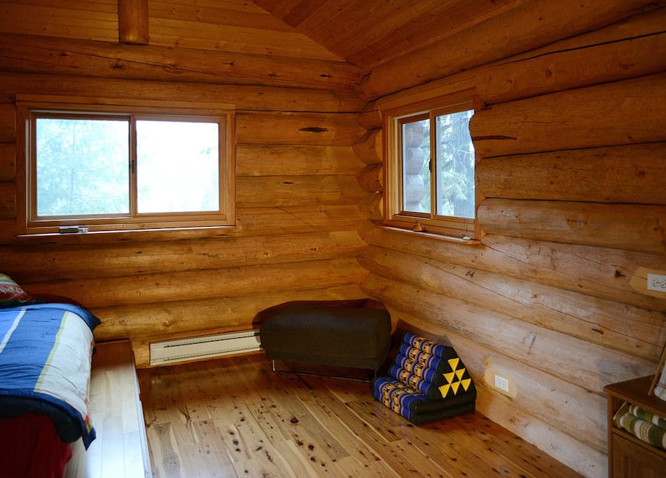 Floor space and a view overlooking Kootenay lake