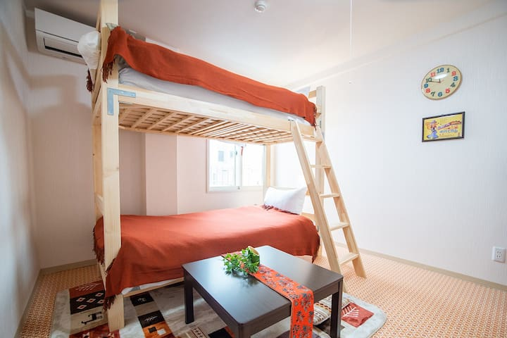 """Room """"Candy"""" 7 minutes  from Hakodate Station!"""