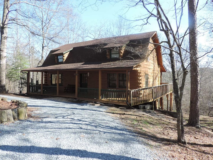 Simpler Times - A True Rustic Log Cabin with Game Room
