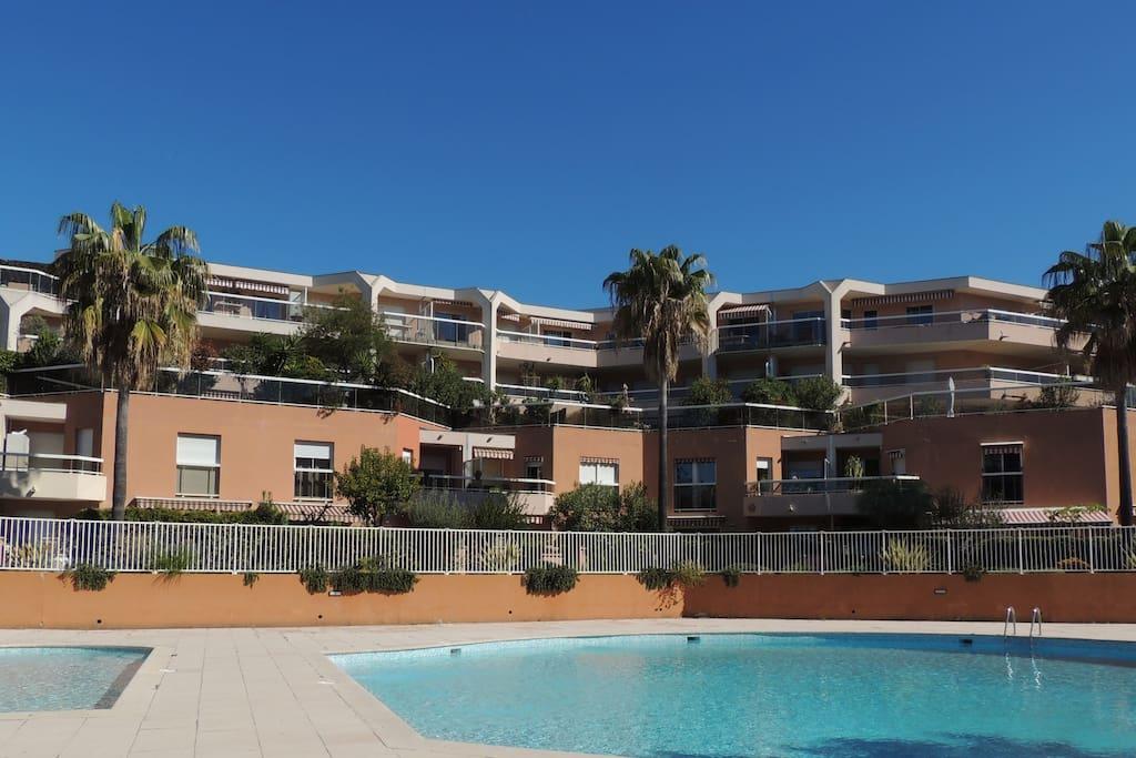 2 pieces nice ouest avec piscine apartments for rent for Piscine iris jardin