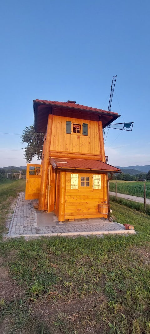 BRAND NEW wooden wind mill, great for ROBINZON