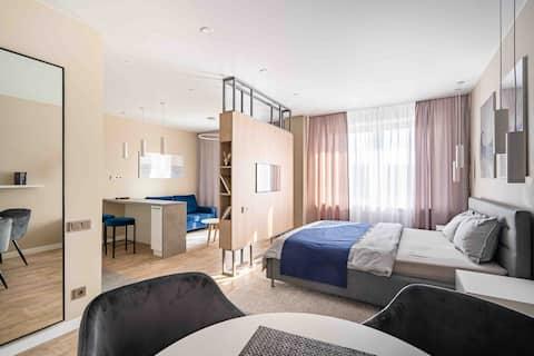 Новые дизайнерские апартаменты-студия в Минске