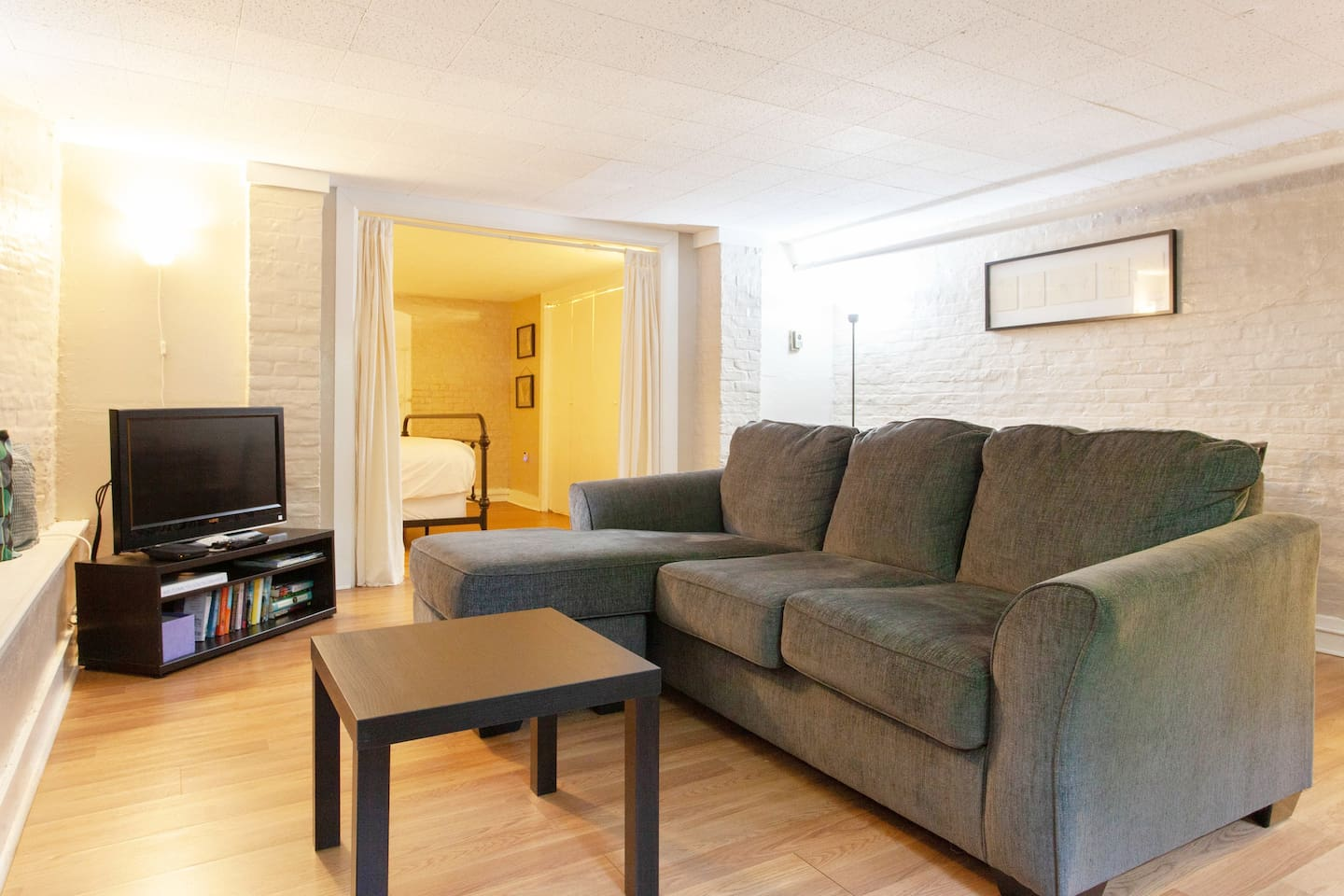 Spacious and stylish one bedroom basement apartment