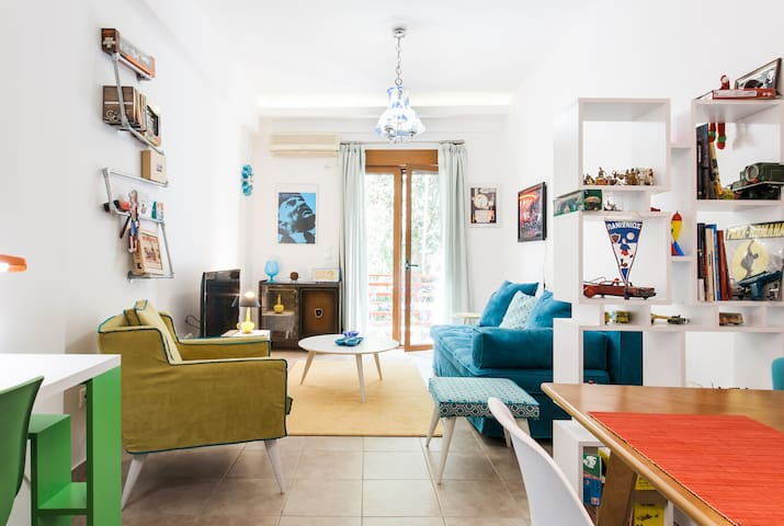 dream flat in Athens - 7m from Metrο