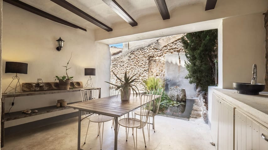 MODERN STONE HOUSE with PEACEFUL PATIO IN BUNYOLA