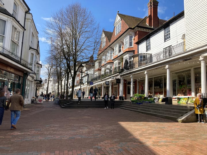 Within Historic Pantiles next to Royal Wells