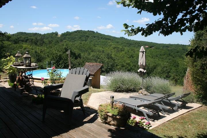 Grange de luxe climatisé avec piscine