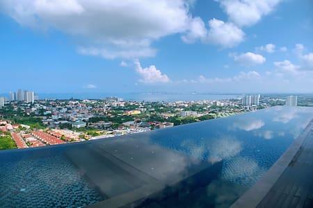 特惠海景1 pattaya posh公寓|网红无边泳池|市中心|21航站楼购物中心|度假首选