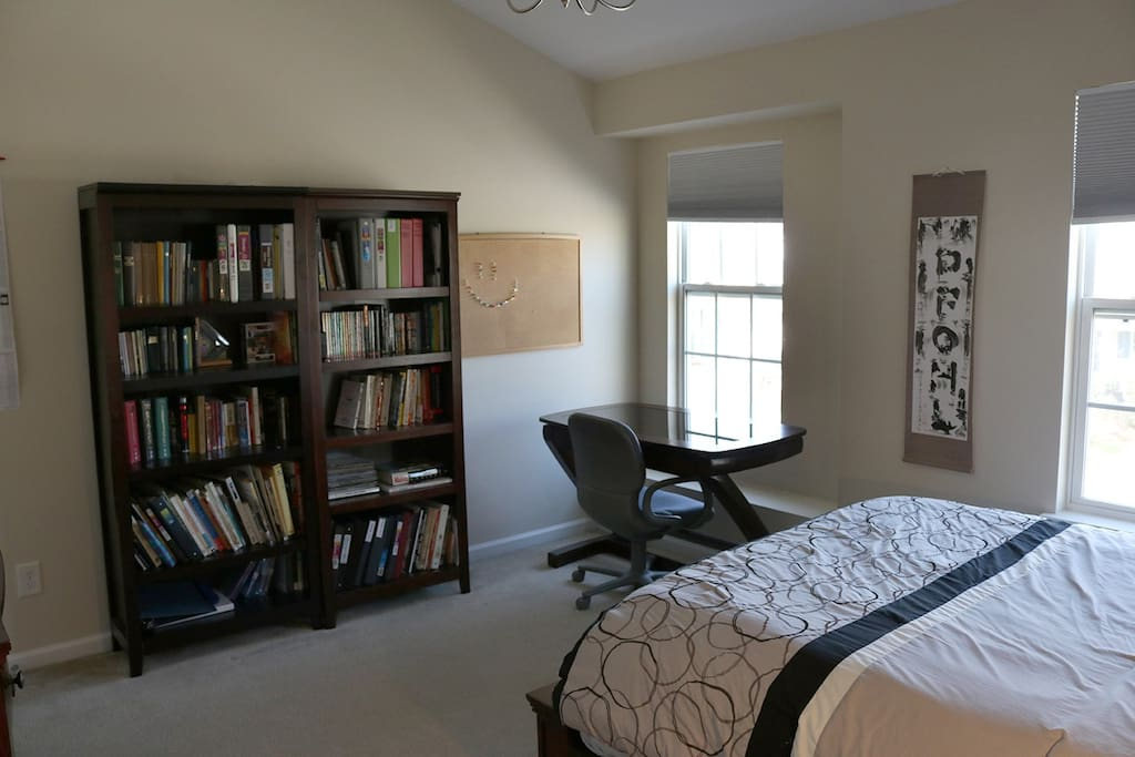 Bedroom 1, with office space