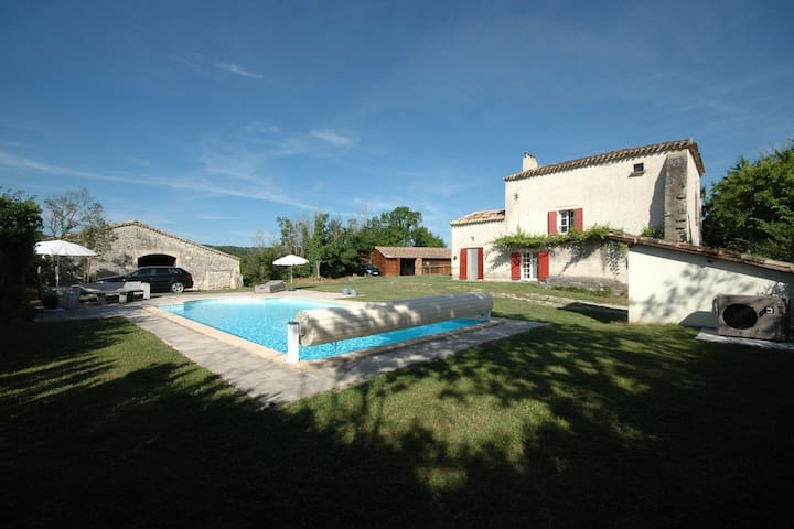 Fantastic holiday home on a hill with a view of historic Tournon
