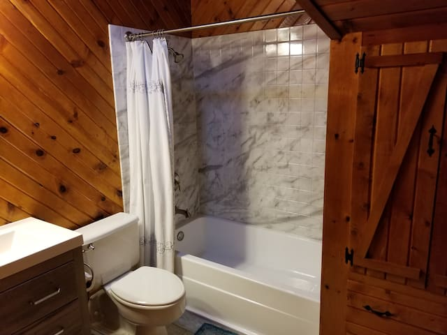 Custom guest bath and shower.