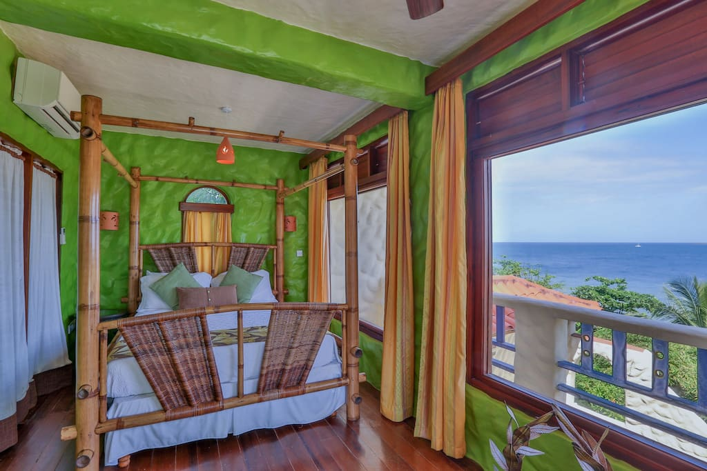 Picturesque views of the Caribbean Sea, from the Cocoa Suite (Queen).