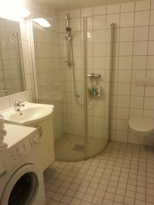 Bathroom with AEG washing machine