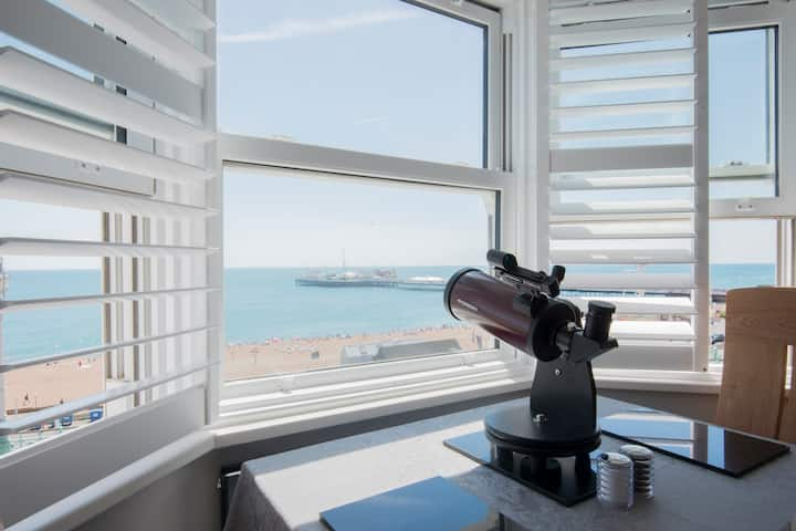 Panoramic Sea Views By Brighton Pier, Free Parking