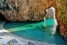 "San Nicola Arcella "" Arco Magno"" A beautiful natural beach cove..less then 10 minute drive from villa."