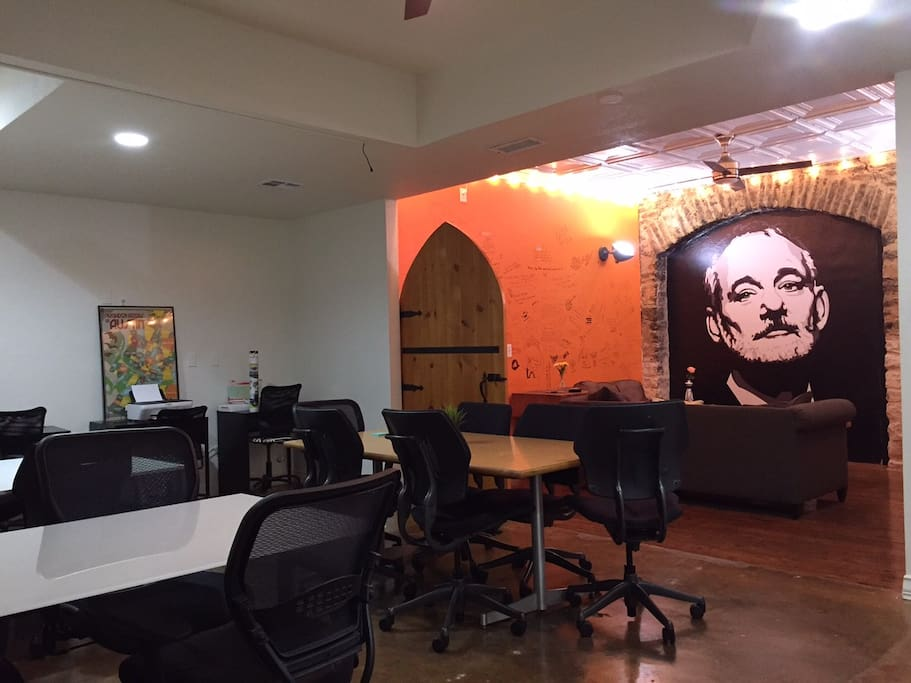 Huge CoWorking Space for you and your new friends!