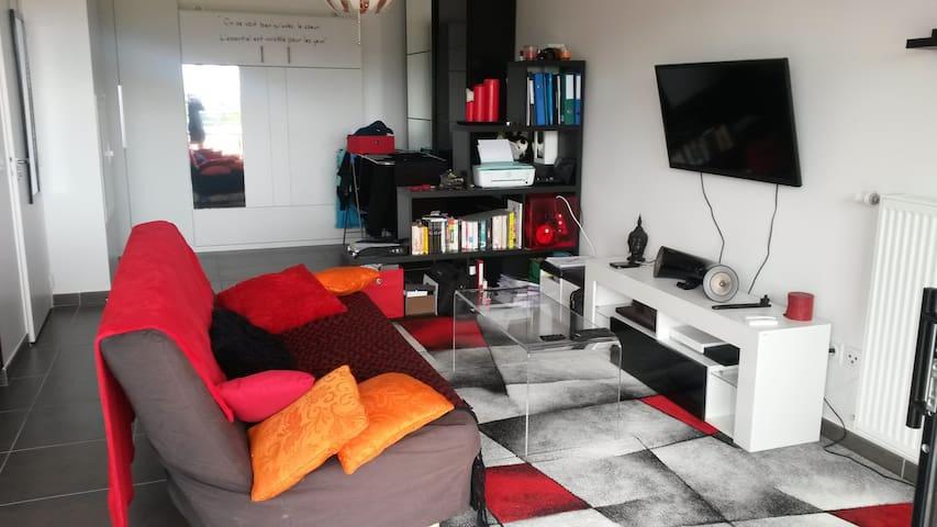 Grand studio entièrement équipé de 39 m2