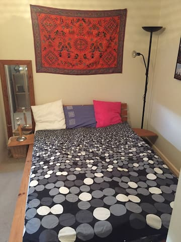 Comfortable double bedroom in friendly modern home