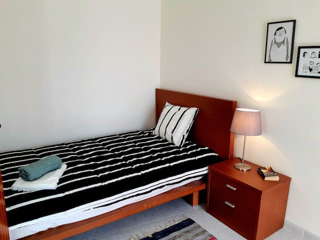 Second bedroom with a small double bed
