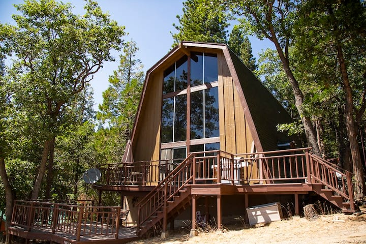 Beautiful Alta Sierra Retro Gambrel A-Frame