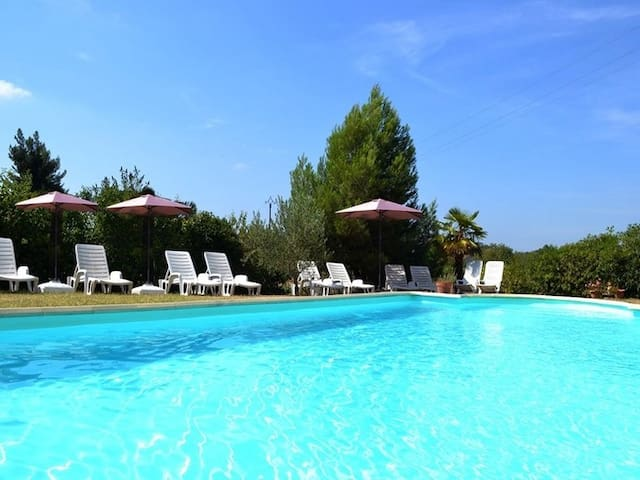 Gite 3:2/4 pers heated pool, 5 miles Carcassonne - Ventenac-Cabardès - Apartmen