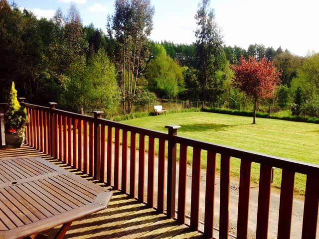 Jay Lodge. Astbury falls, beautiful, relaxing.