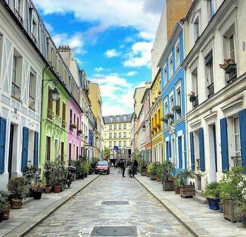 Rue Crémieux - pedestrian street