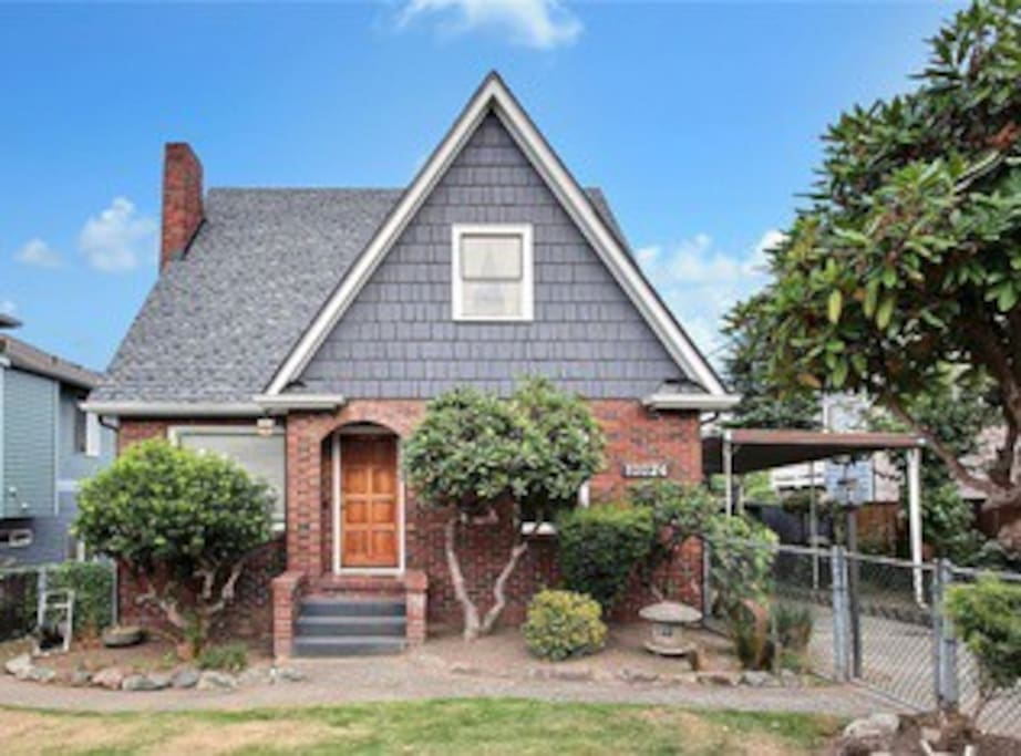 Enjoy our brick tudor style home, built in the 1920s.