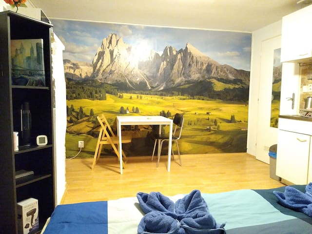 The Mural Apartment with Easy Access to Center