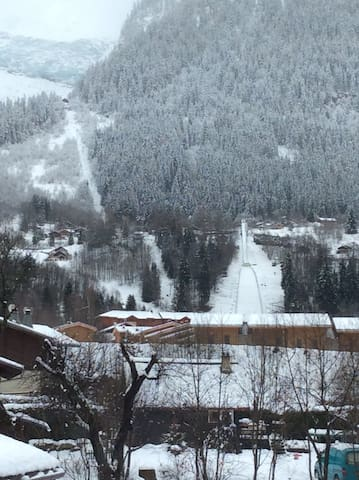 Ski jumping Stadium view from Balcony