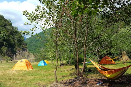 Pankisi camping- place for hikers and travelers.