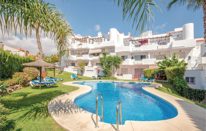 Awesome home in Cancelada with WiFi, 2 Bedrooms and Outdoor swimming pool